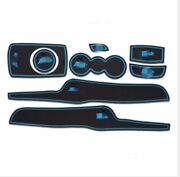 Cup Holder And Door Liner Accessories Fits For Ford Fiesta 08-16 8pcs Blue
