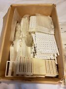 Large Lot Of Electrical Supplies Terminal Blocks Insulator Plates Block Markers