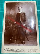 Handsome Young Man Cabinet Card Photograph Studio Charleton And Son Kildare