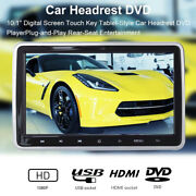 1pcs 10.1 Car Headrest Monitor Dvd Video Player Lcd Screen Touch Button Stereo