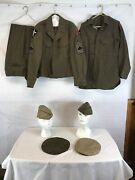Ww2 Us 6th And 2nd Division Army Uniform Complete Jacketpants Shirt An Hats 1945
