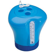 Ocean Blue Swimming Pool Spa And Hot Tub Chemical Dispenser And Thermometer Combo
