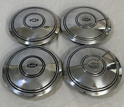 4pc Rare Classic Vintage Chevrolet Bow Tie Hubcap Police Cruiser Rally Wheel