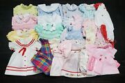 Vintage 1970s-1990s Baby Girls Lot Of 34 Clothes Sizes Nb2t. Dresses Outfits+++
