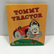 Tommy Tractor Whitman Tell A Tale Books 1947 Childrens Vibrant Graphics Vintage