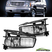For 02-06 Cadillac Escalade Clear Lens Bumper Fog Light Lamp Oe Replacement Pair