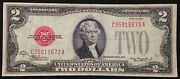 1928-d Circulated Mule 2 Two Dollar Bill Us Currency 1928d United States Note