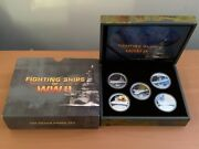 Cb1514 Tuvalu 2007 Perth Mint Fighting Ships Of Wwii Coloured Reverse 1oz