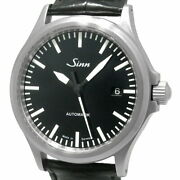 Sinn 556 Mens Automatic Date Black Dial Back Skeleton Watch W/box Used Excellent