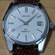 Grand Seiko Second 5722-9991 Ss Leather Hand Winding Menand039s Watch Used Excellent