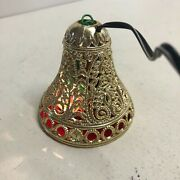 Vintage Guilden Merry Glow Round Musical Christmas Bell Songs Light Up Plug In