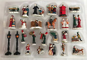 Christmas Traditions Lighted 40 Piece Victorian Village Set - Buildings People