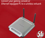 New Sealed Belkin/ F5d7330 / 54mbps / 802.11g / Wireless Ethernet Gaming Adapter