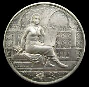 India 1893 Calcutta Photographic Society 51mm Silver Medal - By Wyon