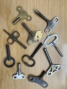 A Collection Of 10 Antique Clock Keys