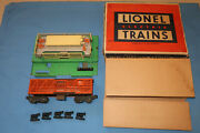 Lionel Postwar 3656 Armour Stock Car With Cattle Corral And Original Box/liner