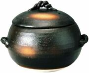 Banko Ware Rice Clay Pot 7 Go Cooked Iga Style M4808