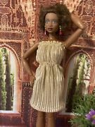 Gold Gown For Integrity Girl / Barbie / Silkstone / Curvy Barbie Dolls- New ⭐️