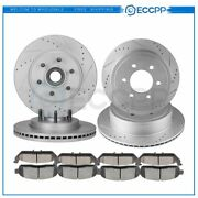 Ceramic Brake Pads And Rotors Front Rear Kit For Lincoln Mark Lt 5.4l 06 07 08