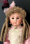 """Reproduction Of Antique French Jumeau 19"""" Doll Porcelain Head Seeley Body"""