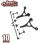 8pcs Lower Control Arm Stabilizer Sway Bar Link Kit For 2003-2011 Volvo Xc90