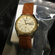 Grand Seiko 5646 7010 Gold Leather Automatic Hi-beat Day Date Menand039s Watch