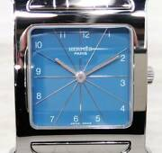 Hermes Hh1.150 Used Watch Quartz Battery Replacement Polished Excellent Cond.