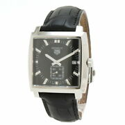 Tag Heuer Monaco Date Waw131a Used Watch Square Date Black Dial Unisex Qz Ec