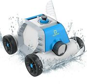 Robotic Pool Cleaner Floating Robot Cordless Auto In/aboveandnbspground Pools Cleaning