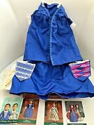 American Girl Felicity Christine Gown And Stomacher  Orig Box Tissue Paper