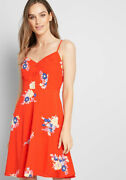 Modcloth Nwt Women's Living Lightheartedly Sundress - Red - Size 00