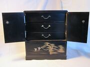 Vintage Miniature Tansu Boxes Jewelry Or Collector Display Cases Japanese