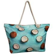 Bolso De Playa Tropical Coco With Fruit Shopper Large Bags Cocos Tote Gloss