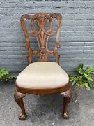 Set Of 8 Maitland Smith Georgian Mahogany Dining Chairs Contact For Shipping