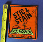 Vintage 1970s Topps Wacky Packages Sew-on Cloth Patch Andldquostick And Stainandrdquo Spoof