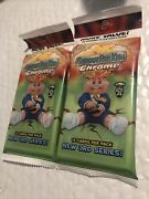 2x Topps Garbage Pail Kids Chrome Cello Value Fat Pack 3rd Series 12 Card Lot 2