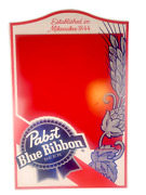 Large Pabst Blue Ribbon Chalkboard Beer Bar Sign Heavy Wood Rare Authentic Pbr