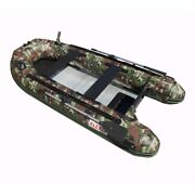 Inflatable Boat Aluminum Floor Saltwater Fishing Pvc Boats 10.5 Ft Camouflage