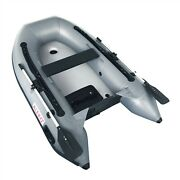 Pvc Inflatable Boat 8.4ft Raft Tender Air Floor Fishing Boats With Oars Set Pump