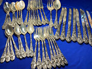 48 Pieces Embossed Fb Rogers Silverplate Set, Holly Pattern Serving—jjj