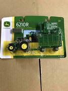 John Deere Toy Tractor Set 338 Baler And Bale Wagon Hay Set 164 Scale