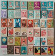 Old Collection Of Soviet Matchboxes Without Matches Inside 1950-1980s - 48pcs.