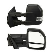 Power Heated Tow Mirrors Led Signal For 2015-2018 Ford F-150 Truck Lh+rh 8 Pin