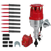 Msd Ready-to-run Distributor Kit For Ford 351w Blaster Ss Coil Spark Plug Wires