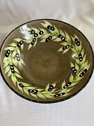 Gates Ware By Laurie Gates Large 15 Olive Pasta Salad Serving Bowl Free Ship
