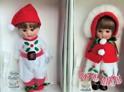 Vogue Reproduction 8 Ginny Holly Boy And Girl Christmas Dolls 2006 Mib Le 250