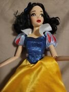 """Disney Limited Edition Snow White In Rags 17"""" Doll And Singing Doll With Dress"""