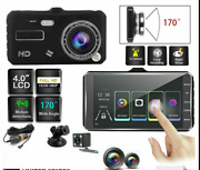 1080p 4 Dual Lens Touch Screen Dash Cam Front And Rear Camera Car Recorder Vide