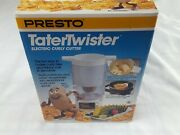Vintage Presto Mr Tater Twister Electric Curly French Fry Potato Cutter 02930