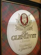 Glenlivet Scotch Alcohol Unblended 12 Years Old Bar Mirror 20 X 25 Inches -big